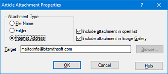 Properties for contact email address
